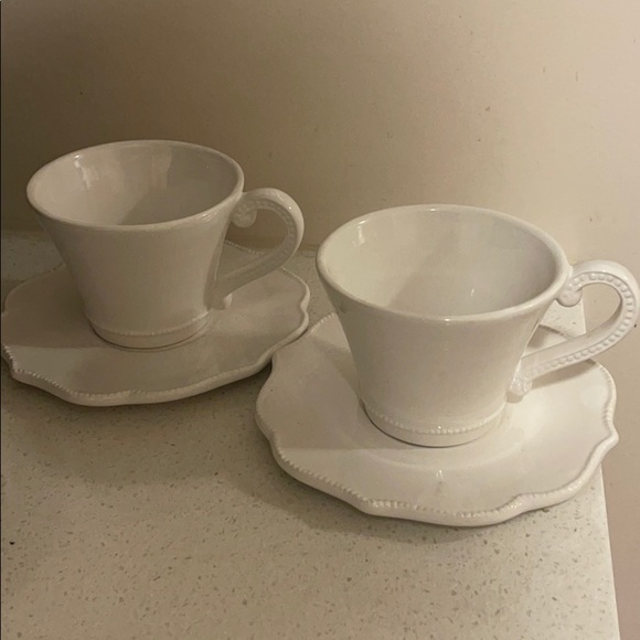 Anthropologie Tea Cup and Saucer Set of 2
